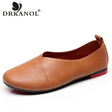 DRKANOL 2020 Spring Summer Slip On Loafers Women Casual Shoes