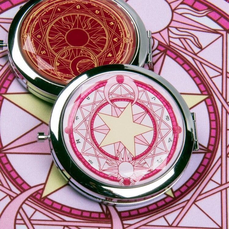Black Deacon Mirror Animation Always Change Little Sakura Magic Matrix Folding Circular Portable Mirror cos
