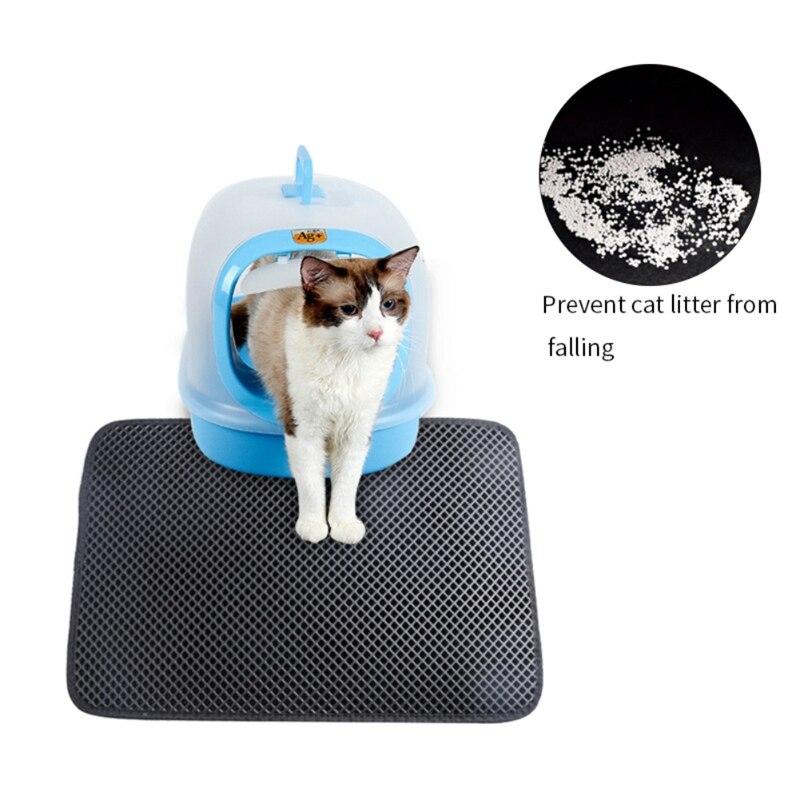 Gato maca esteira caixa almofadas ninho gaiola dupla camada à prova dwaterproof água anti respingo cama capacho fácil limpo controle de dispersão para gato