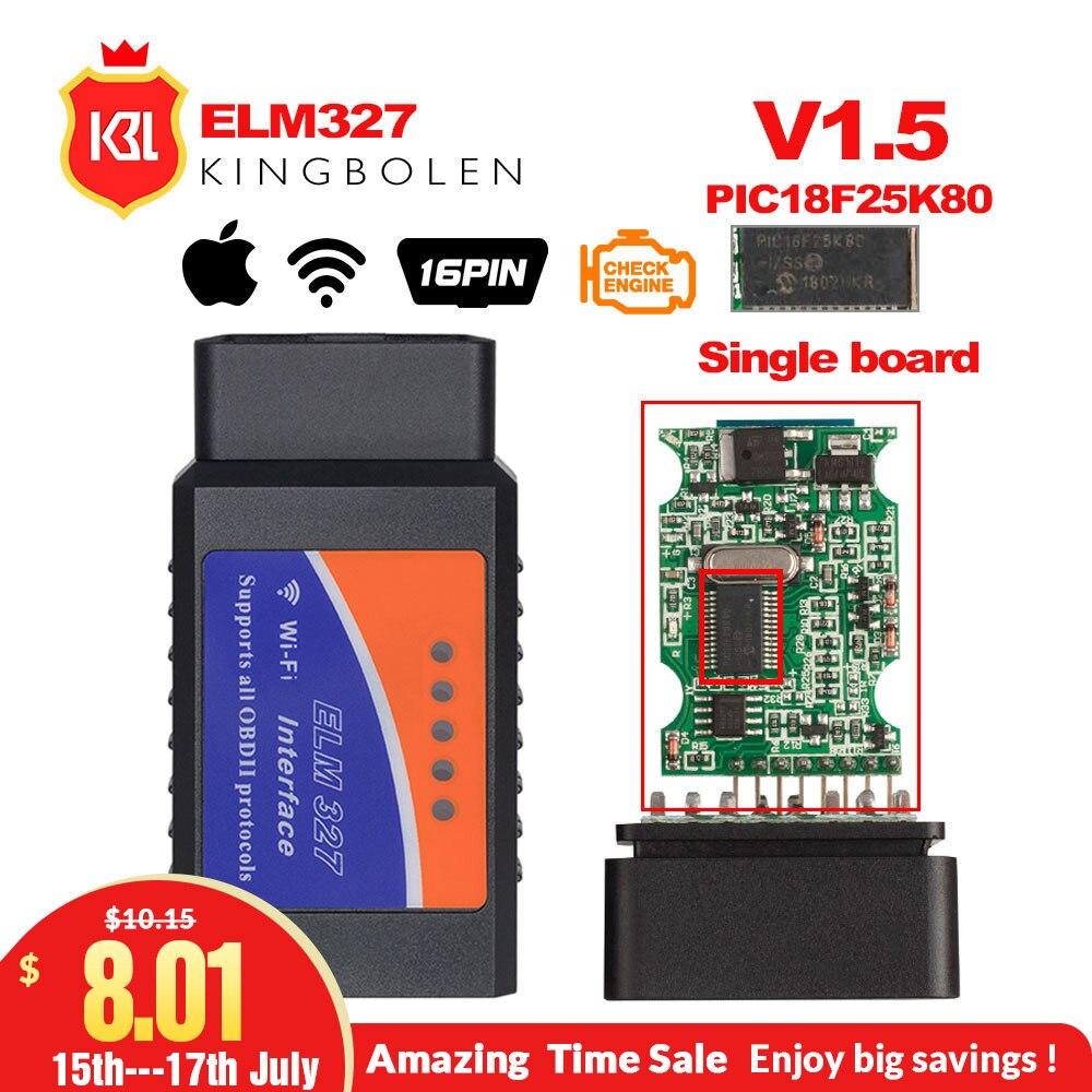 ELM327 WIFI OBD2 / OBDII Auto Diagnostic Scanner Tool ELM 327 Wifi whiskey steine test