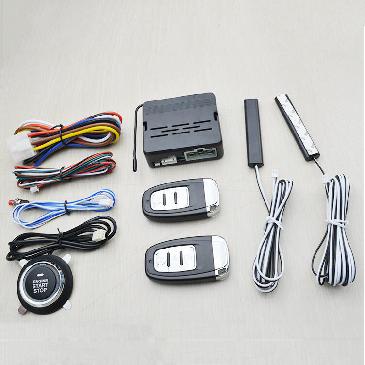 Car Alarm System PKE Keyless Entry Central Locking Push Button Engine Ignition Start/Stop Remote Engine Start