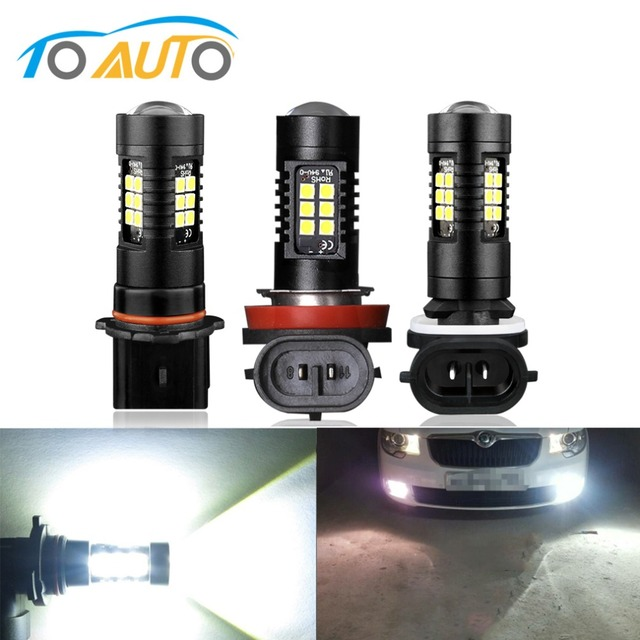 2Pcs H27 Led Bulb 880 881 P13W Led PSX26W 1200LM 6000K Car Fog Light Driving Running Lamp Auto Led 12V 24V White
