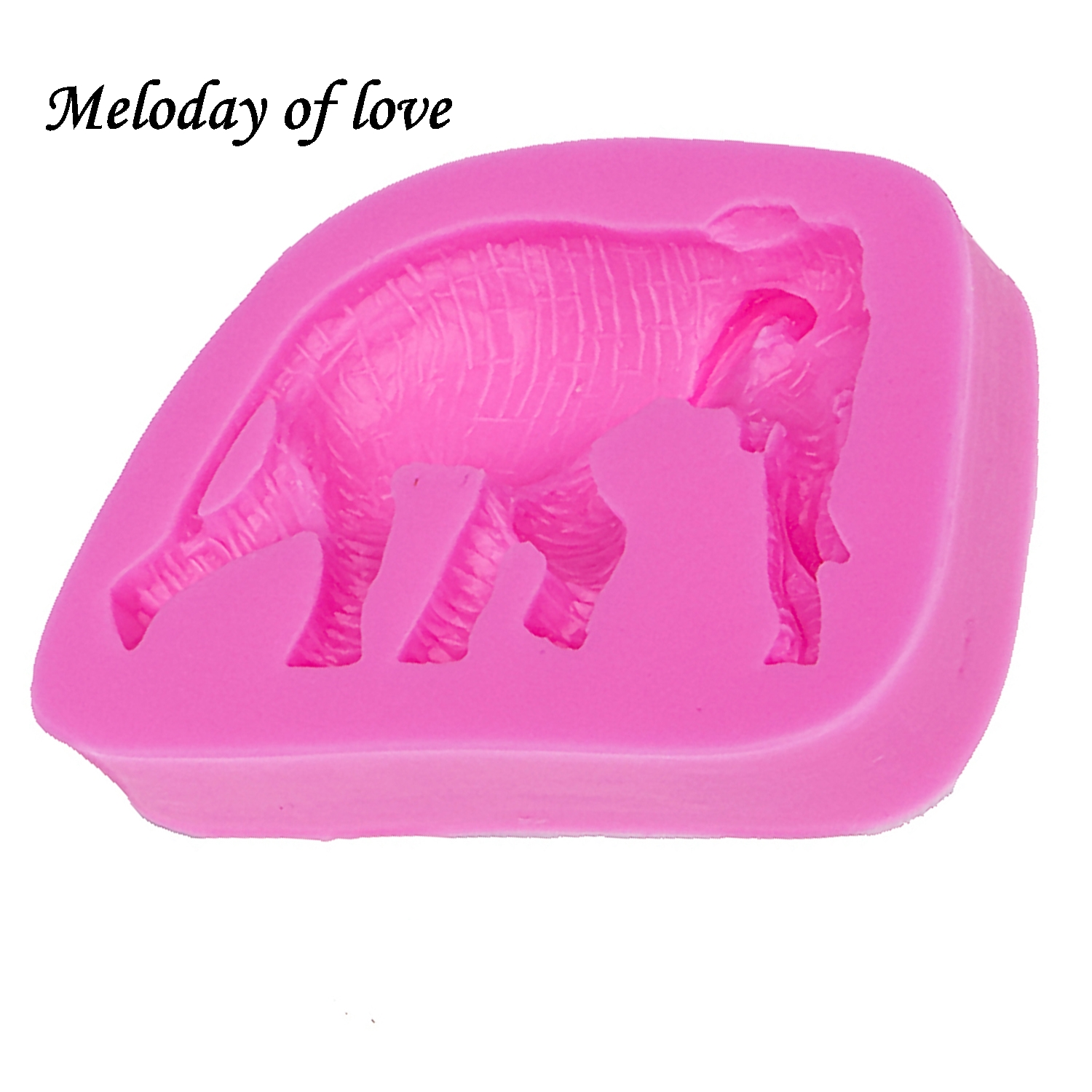Animal soap mold chocolate Party DIY Elephant fondant cake decorating tools silicone mold dessert decorators moulds T0042 in Cake Molds from Home Garden