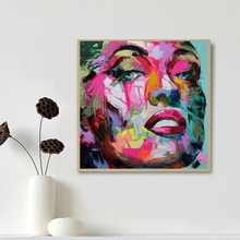 Neilly Abstract Face Painting Designed For Wall Modern Art Decorative Canvas Living Room