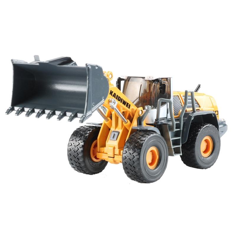 KDW 1:50 alliage Bulldozer jouet chargeur modèle Construction camions voiture jouets pour enfants cadeau chariot élévateur