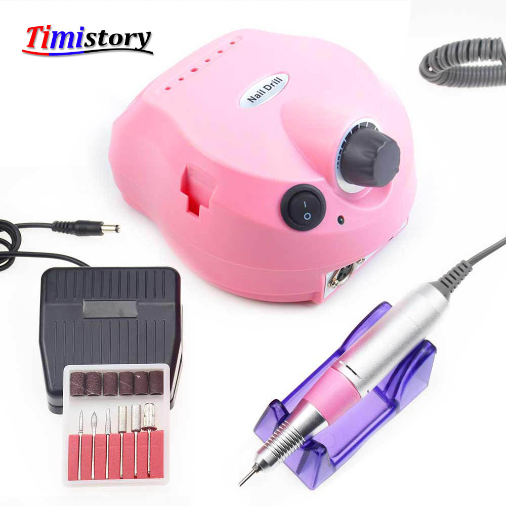 Electric Nail Drill Machine 30000RPM for Manicure Pedicure Drill Machine Nails Accessoires Nail Art Tool with