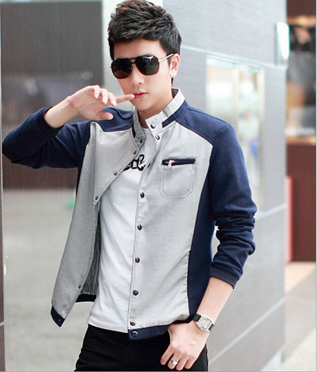 2015 New Spring jacket England style Mens Outwear Slim Fit Long ...