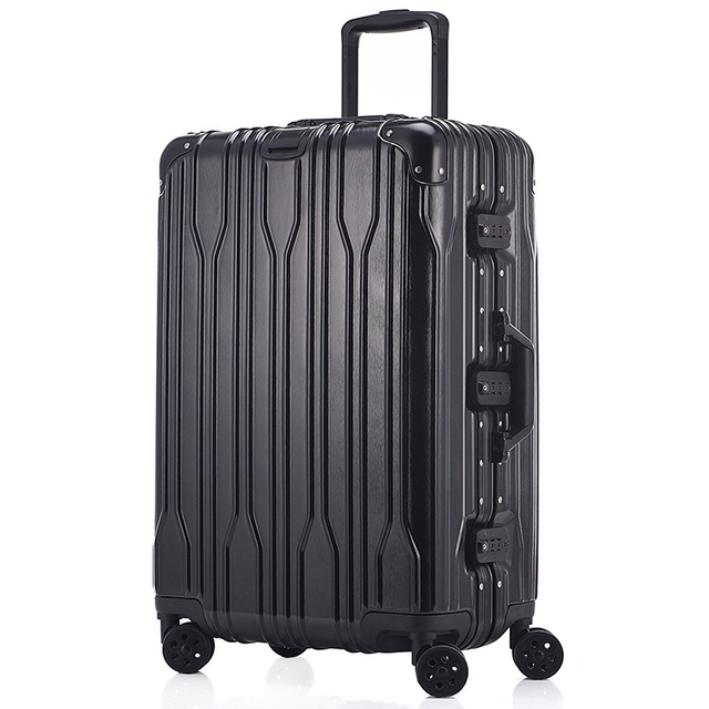 20cefe30f342 Unisex Business Aluminum Travel Airplane Luggage Spinner Wheels Suitcase  Clothing Carry On 20