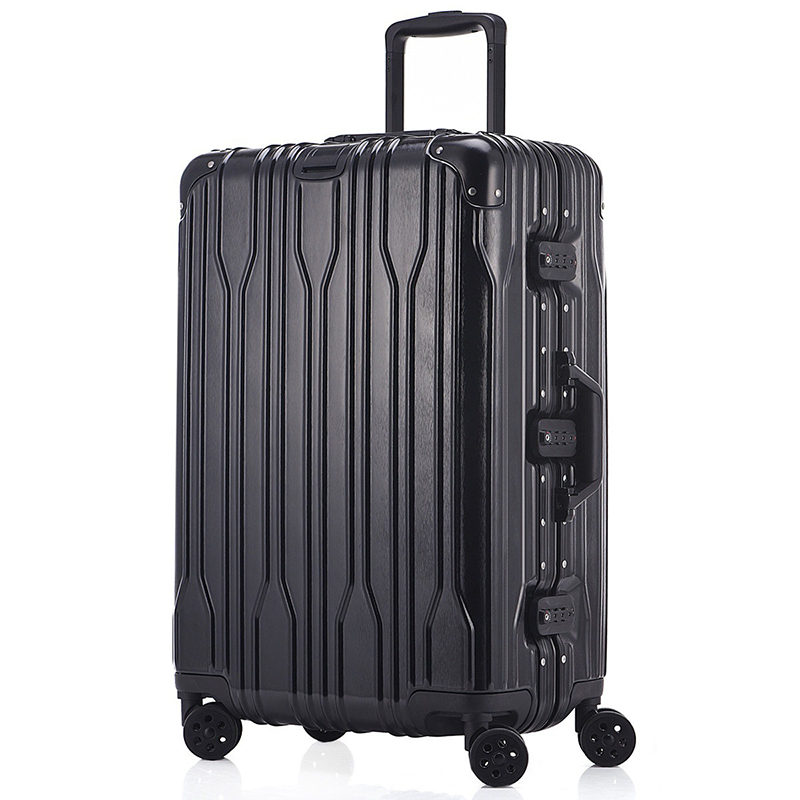 Unisex Business Aluminum Travel Airplane Luggage Spinner Wheels Suitcase Clothing Carry On 20 24 Inch Rolling Trolley Luggage