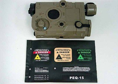 Tactical battery box holder PEQ 15 Style Airsoft RIS Battery Case Box Tan