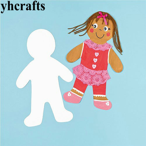 Paper Doll Blank Shape Kindergarten Arts And Crafts Craft Material Animal Cutout
