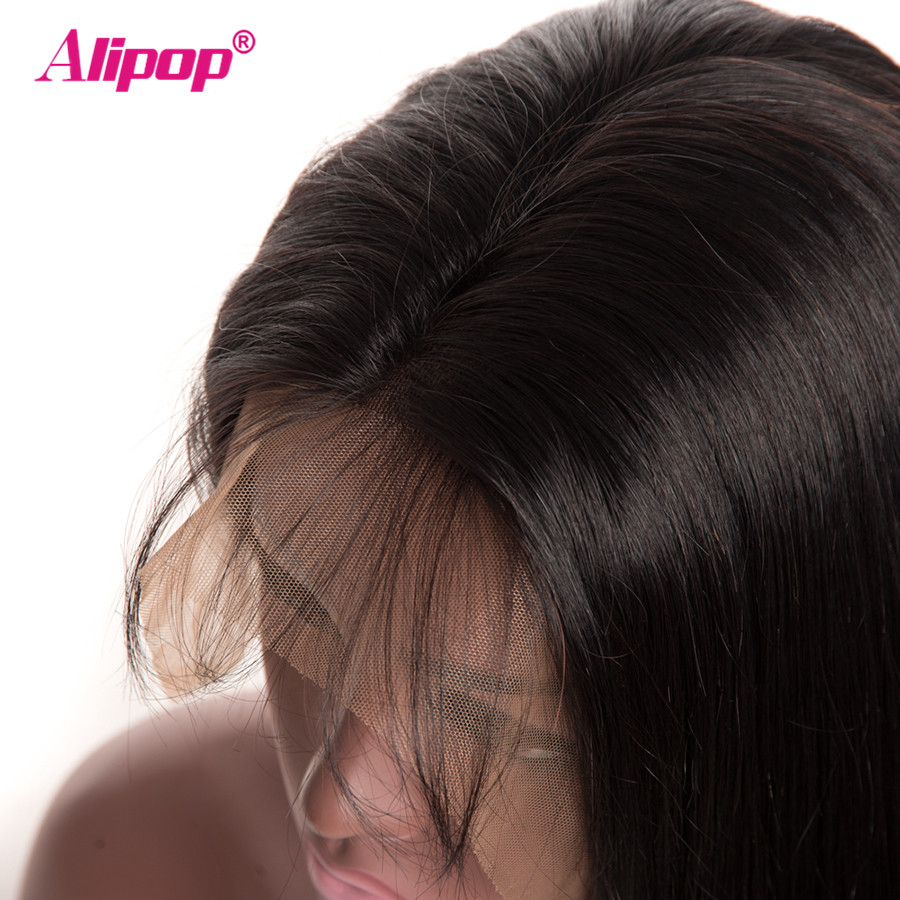 Malaysian Straight Wig 13x4 Lace Front 100 Human Hair Wigs ALIPOP Remy Hair Lace Front Wig