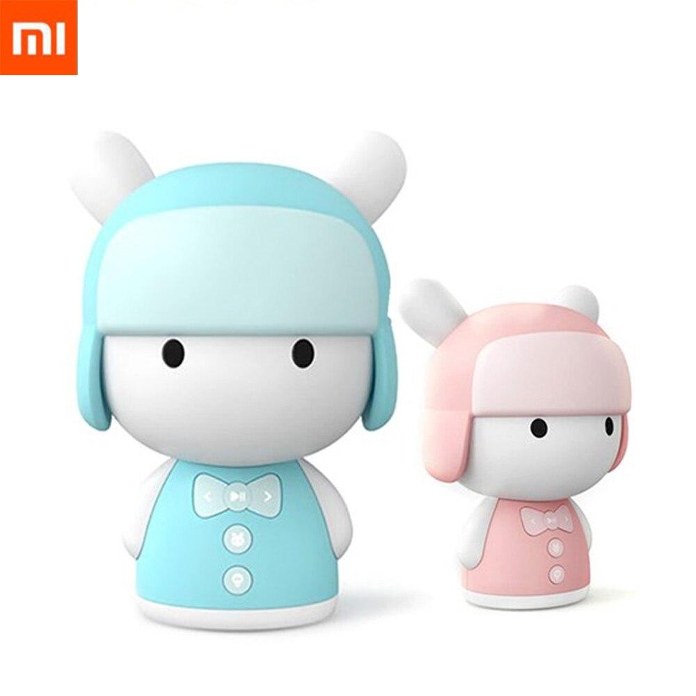 Original Xiaomi mi TU inteligente historia cajero juguete Robot mi ni Robot Speaker Xiaomi mi Robot figura de acción de cumpleaños de los niños regalo 8 GB