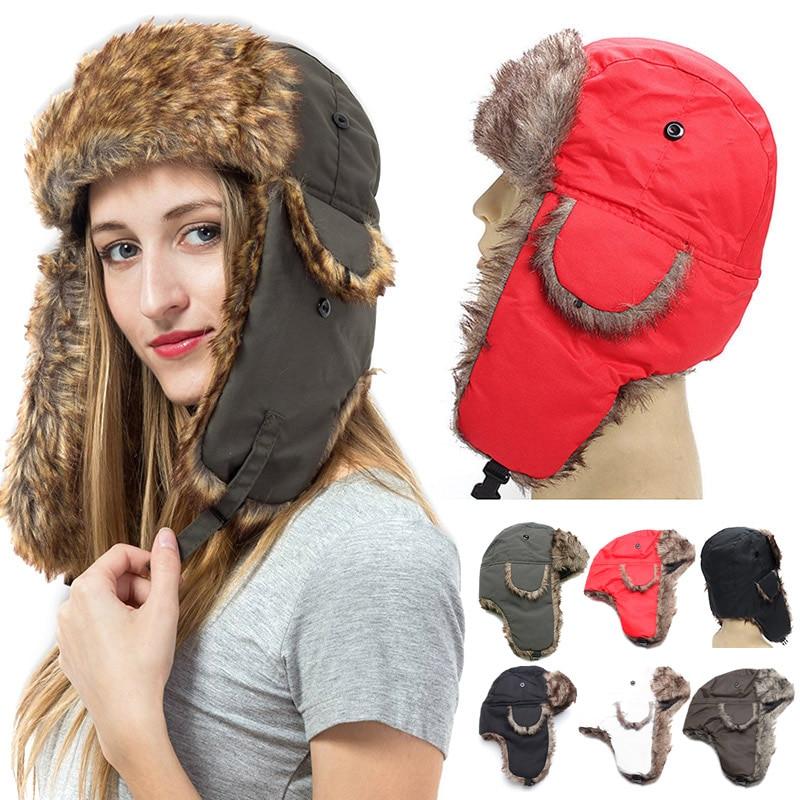TANGIMP Unisex Adults Winter Warm Windproof Bomber Hat Outdoor Sports Skiing Trooper Caps Earflaps