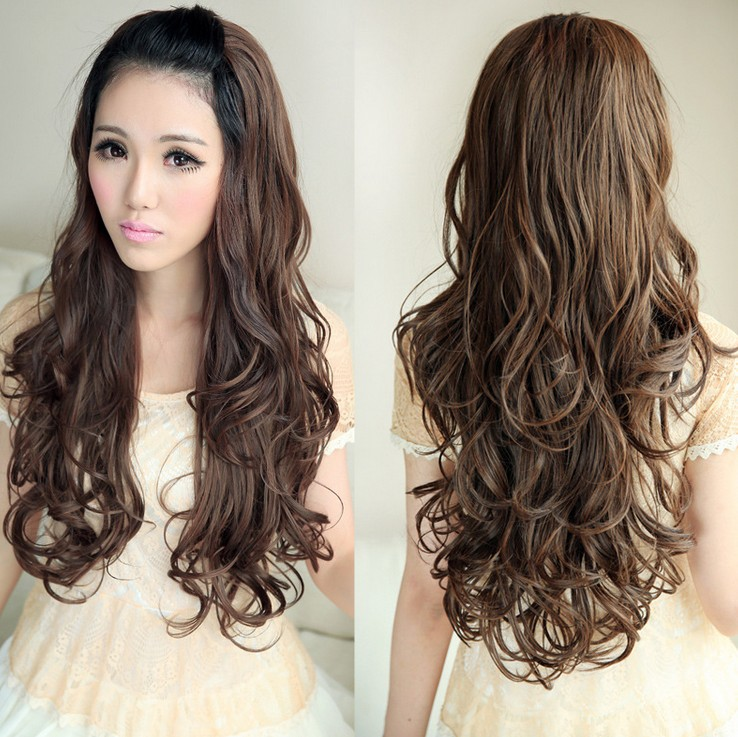 Forever Love Fluffy Long Curly Hair Wig Wholesale Korean