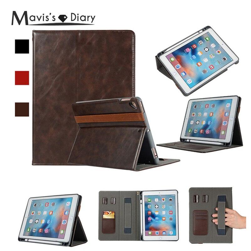 Smart Cover Half Genuine Leather Holder Flip Case For iPad Air /iPad Air2/iPad Pro 9.7 inch 2016/iPad 9.7 inch 2017 2018