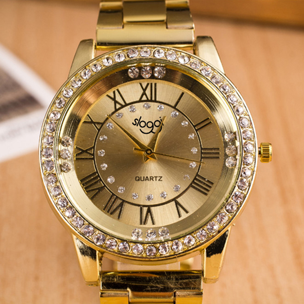 Hot selling stainless steel watch women and men Roman numerals alloy watches diamond quartz watch autumn new relogio masculino hot selling stainless steel watch women