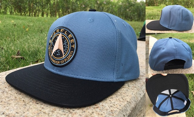 9589fa0955 Adult s Star Trek Symbol Snapback Hat Letter Fabric Adjustable Baseball Cap  sumshade Hip Hop Hat
