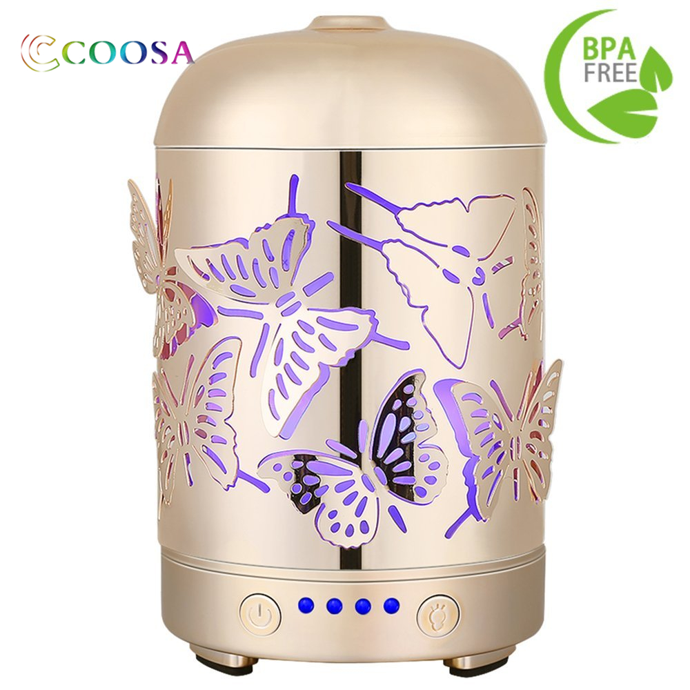 Genuine Unique 3D Butterflies Designed Ultrasonic Aromatherapy Essential Oil Diffuser Cool Aroma Humidifier for Home and Offic 2017 infrared induction aroma diffuser diffuser aromatherapy essential oil smiley daisy nebulizing oil diffuser for home offic