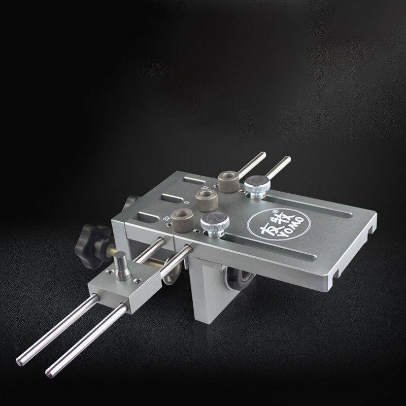 3 в 1 деревообрабатывающий сверлильный локатор направляющий деревянный дюбель Дырокол джиг столярные регулируемые сверлильные направляющие комплект деревообрабатывающий инструмент