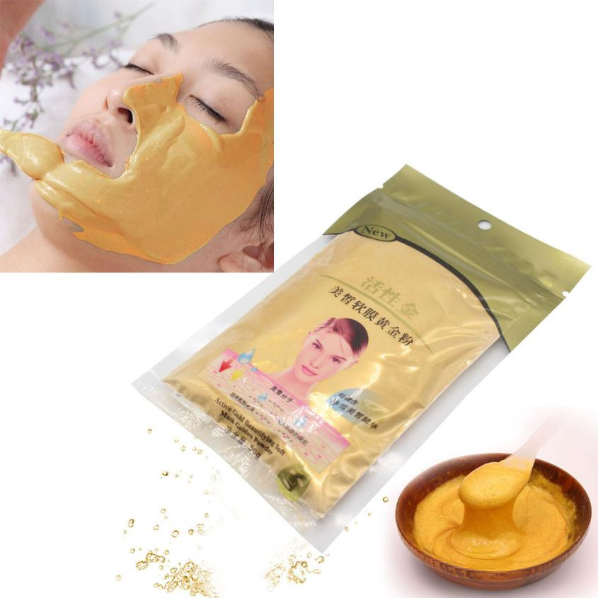 2018 New Top Fashion 50g Gold Active Face Mask Powder Anti Aging Luxury Spa Treatment 100% Brand New High Quality Face Mask Anne Beauty & Health