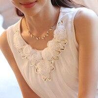 2015 New Women S Blouse Woman Casual Sleeveless Chiffon Shirt Fashion O Neck Tops XXL XXXL
