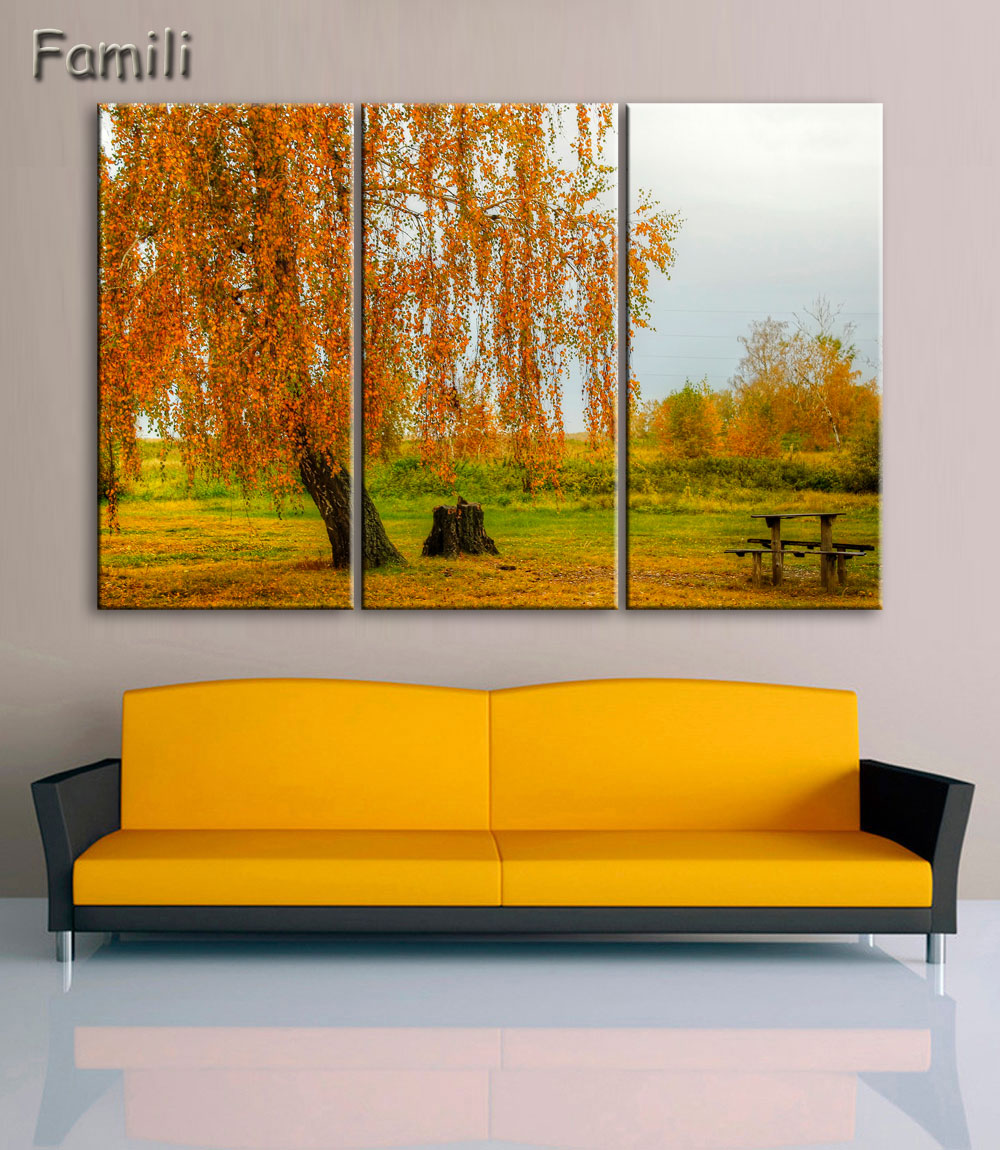 3Piece Canvas Painting Autumn Waterfall HD Printed Canvas Art Prints ...