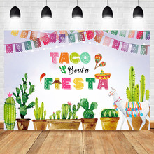 Mexico Fiesta Backdrop Taco Bout a Party Photography Background Dress-up Supplies Banner Event Decoration