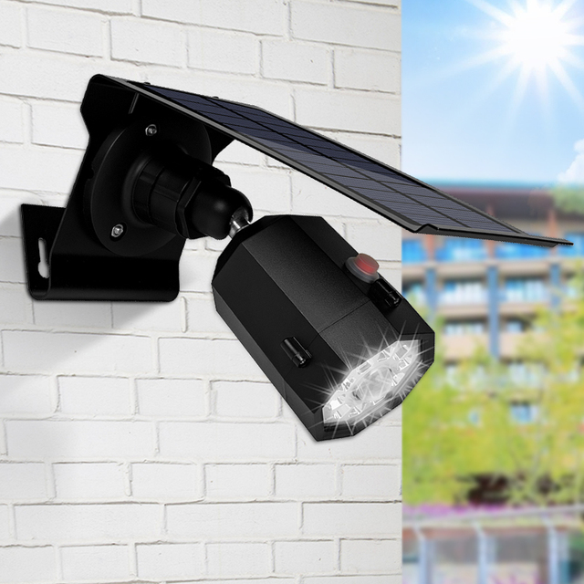 10 LED Solar Light Adjustable Lighting Angle 500lm Waterproof Lamp Spotlight With Three Modes For Outdoor Gardn Wall Yard