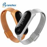 Mi Band 3 Wrist Strap Metal Screwless Stainless Steel Bracelet For Xiaomi Mi Band 3 Strap Miband 3 Wristbands Pulseira Miband3