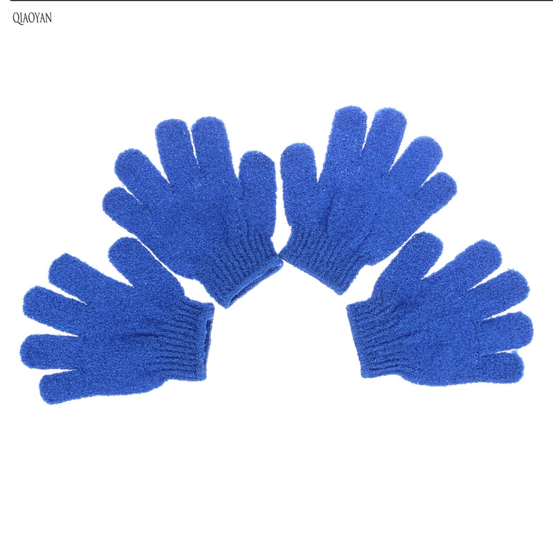 4Pcs Exfoliationg Gloves Bath And Shower Cleansing Smooth Soft Face Legs Body