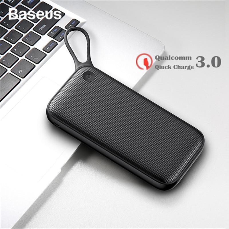 Baseus 20000 mAh Charge rapide 3.0 batterie externe type-c PD Charge rapide chargeur de batterie externe batterie externe pour iPhone Xs Samsung S9