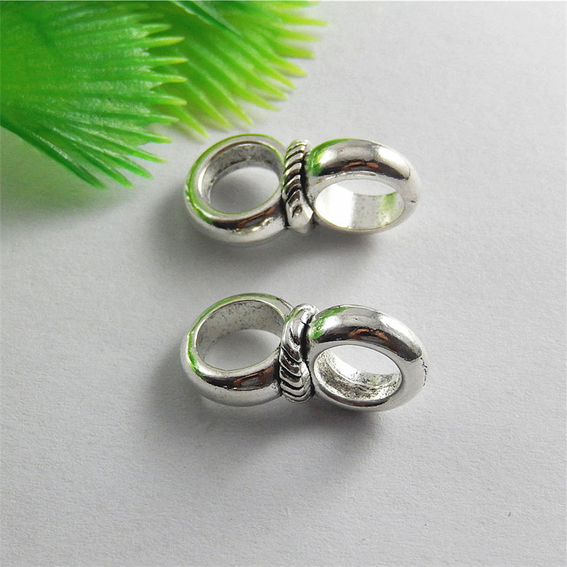 10pcs Antique Silver Double Ring Style Connector Jewelry Pendants Charms Finding Jewelry Making Key Chain Accessary 20*10*10m