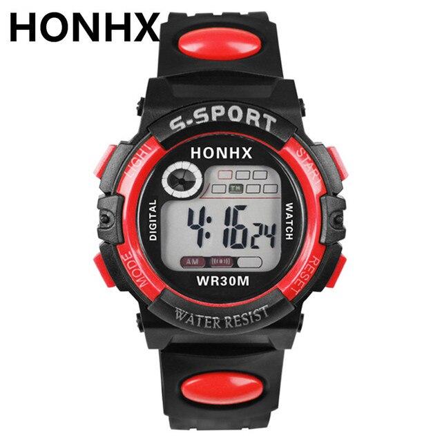 HONHX Luxury Men Sports Watches Waterproof Digital LED Military Watch Male Sport