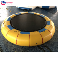 Giant Inflatable amusement park rides used water trampoline air bouncer inflatable floating jumping trampoline