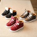 New 2016 Autumn Winter fashion Mid-Cut children's PU leather Cartoon Fox  shoes kids baby sneaker boys girls casual shoes