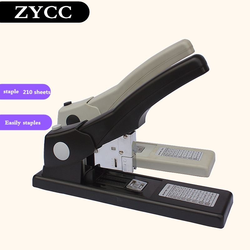 New valuable ffice Stationary Heavy duty thick stapler 65% power save staples hot sale can stapling 210 sheets 70g paper pack of 1000 standard falt corner wave hot stapler staples plastic welder staples st 1000