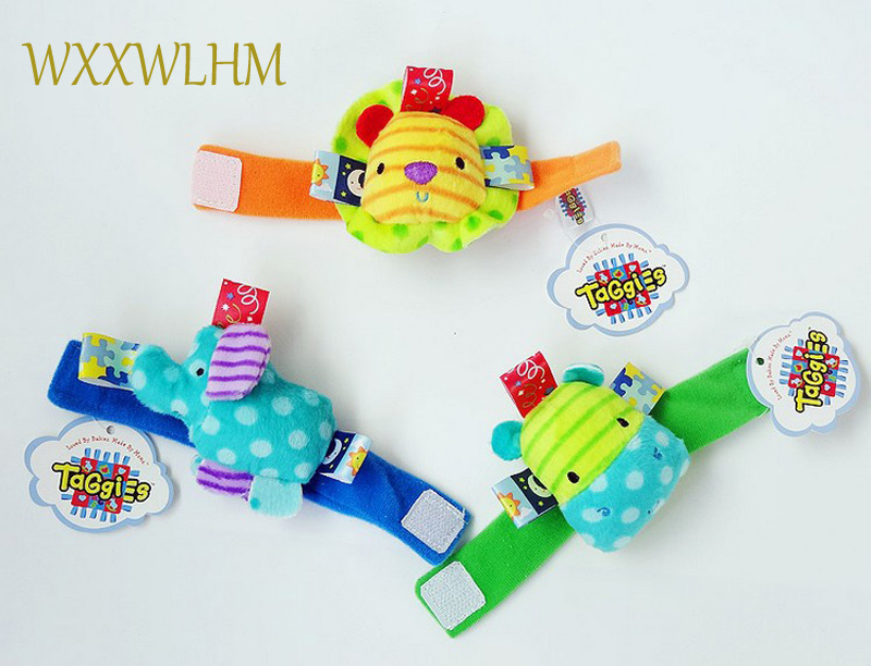 Baby animal watch with wrist strap sock with rattle bell baby newborn pp cotton stuffed  ...