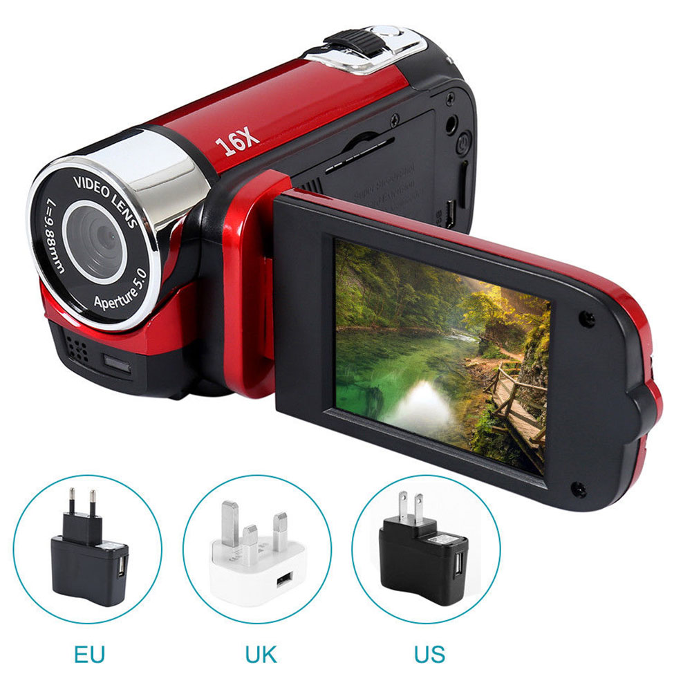 Digital Camera 1080P Video Record Clear Night Vision Anti-shake LED Light Timed Selfie Professional Camcorder High Definition