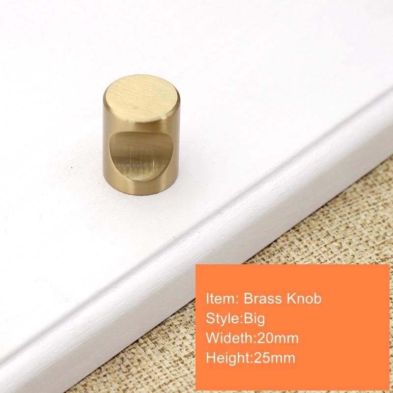 Современный матовый латунный золотой комод для шкафа с выдвижными ящиками для кухонного шкафа дверные ручки и ручки Hardware-1Pack - Цвет: 20x25mm