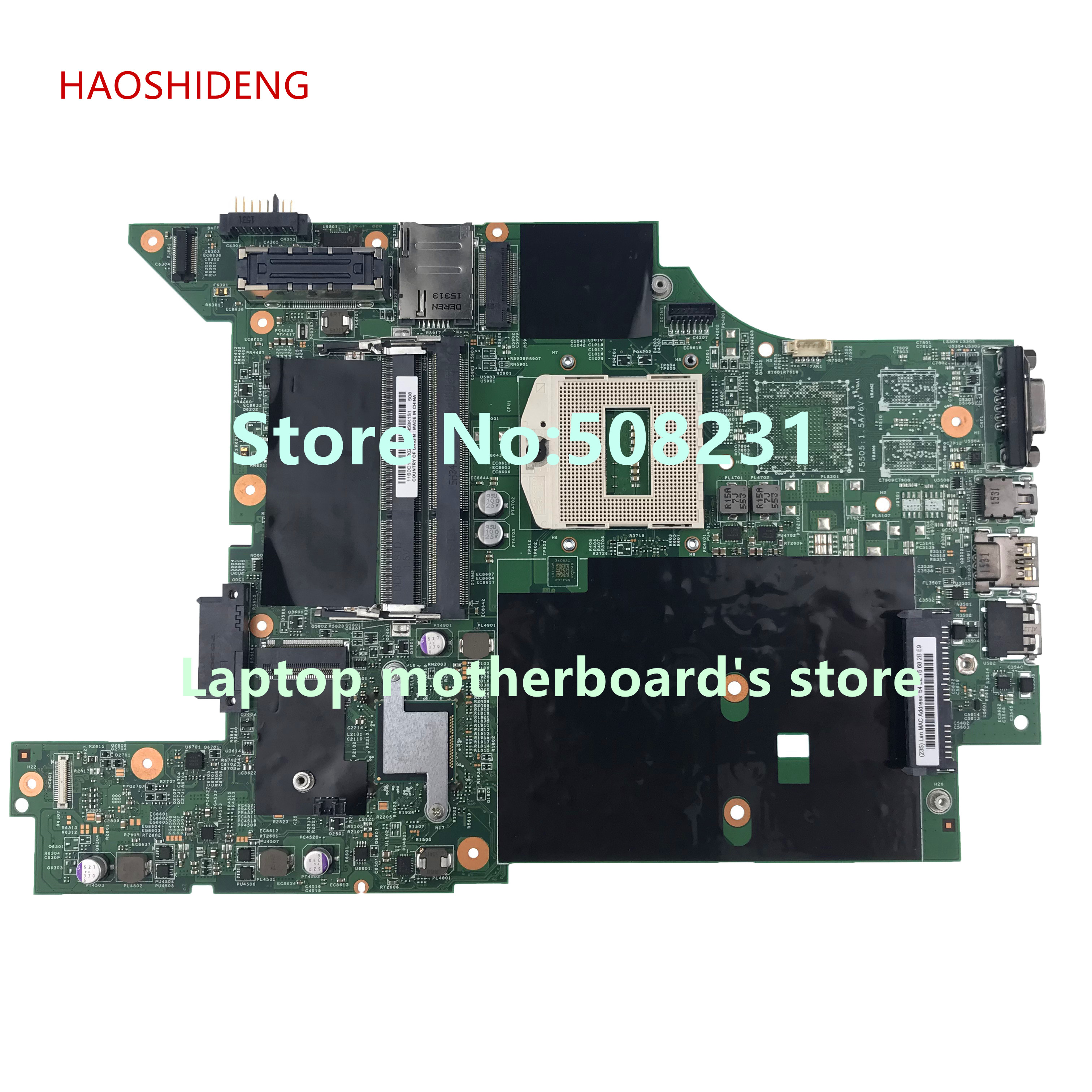 HAOSHIDENG mainboard for lenovo thinkpad L440 Laptop Motherboard All functions fully Tested for hp 605321 001 laptop motherboard mainboard fully tested all functions work good