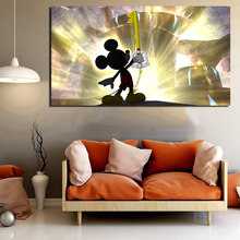 kingdom Hearts 1 Mickey Canvas Painting Print Living Room Home Decoration Modern Wall HD Art Oil Posters Salon Pictures