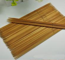 Crochet hook wood hand sewing Carbonized bamboo charcoal needle Woven scarf / baby sweater knitting needle 20PC/LOT A100