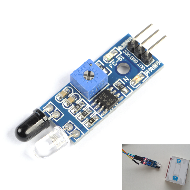 10pcs IR Infrared Obstacle Avoidance Sensor 3 Wire Photoelectric Reflective Module for Arduino Smart Car