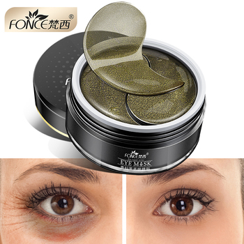 Korean Skin Care Black Tea Collagen Gel Eye patches Mask Plant for eyes Remover dark circles Anti Age Bag Eye Wrinkle 60 Piece Creams