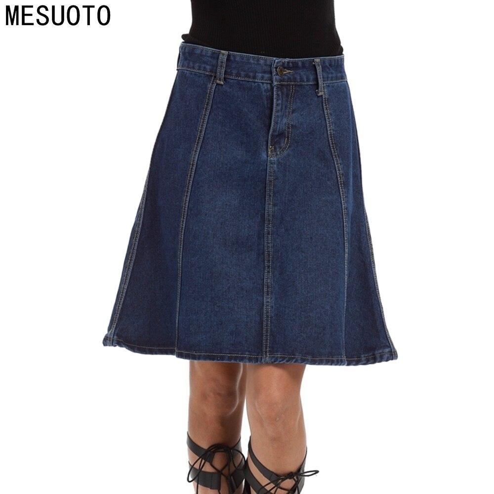 Online Get Cheap Knee Length Denim Skirts -Aliexpress.com ...
