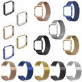 Correa de Acero Inoxidable de malla de Banda + Estructura de Metal para Blaze Fitbit Reloj Tienda 51