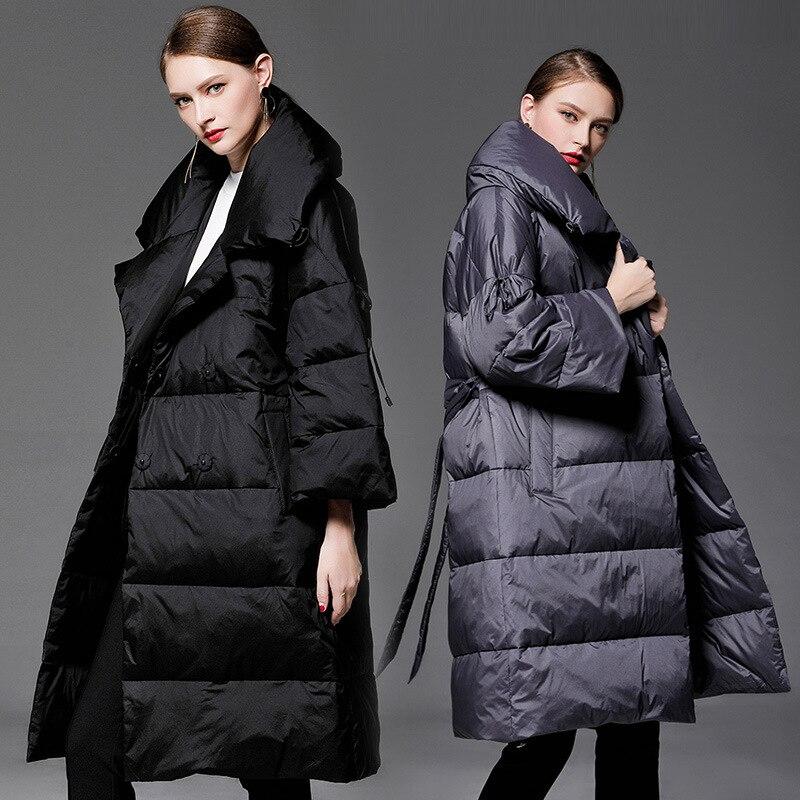Верхняя одежда для беременных куртки с поясом двубортные Длинные свободные модные утепленные пуховики для беременных женщин пальто для бе