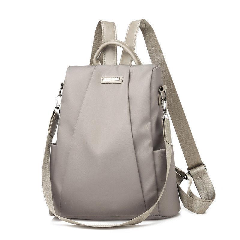 2019 Hot Women's Backpack Casual Nylon Solid Color School Bag Fashion Detachable Shoulder Strap Shoulder Bag