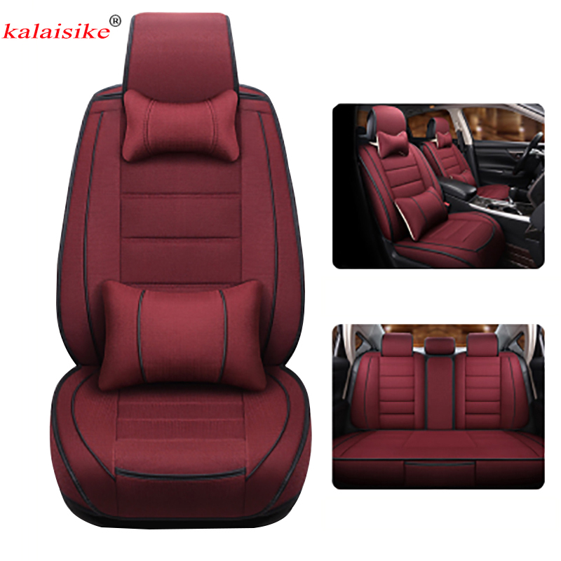 Kalaisike Linen Universal Car Seat Covers for Mini all models cooper countryman cooper paceman car styling auto CushionKalaisike Linen Universal Car Seat Covers for Mini all models cooper countryman cooper paceman car styling auto Cushion